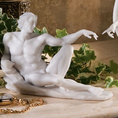 The Creation of Adam Bonded Marble Adam Statue