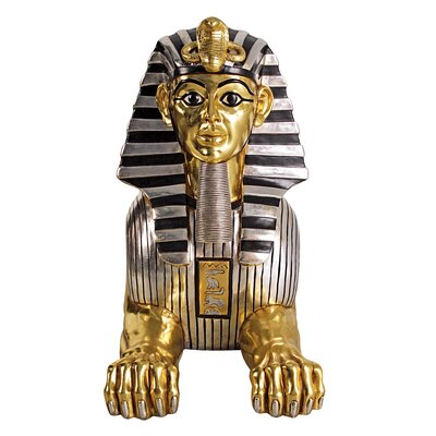 Grand Gilded Egyptian Sphinx Statue