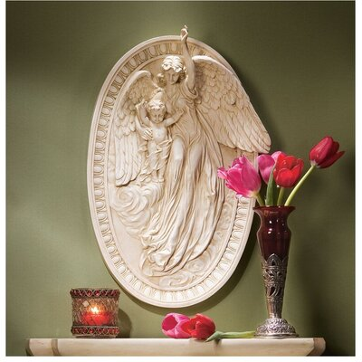 Design Toscano Angel of Grace Bas-Relief Wall Sculpture