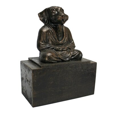 Design Toscano Spirit of Zen Meditating Dog Bookend (Set of 2)