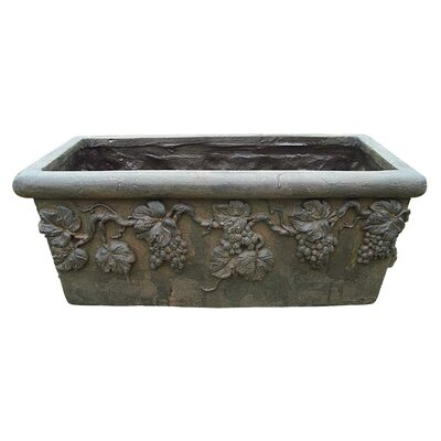 Roman Grape Vine Rectangular Window Box Planter