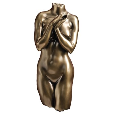 Design Toscano Anatomical Decipher Nude Torso Female Wall Sculpture