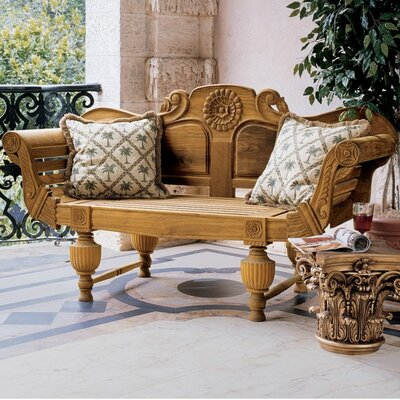 Design Toscano Wood Garden Bench