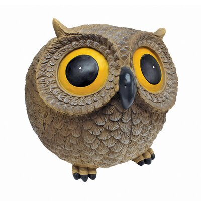 Puffy, the Roly Poly Garden Owl Statue