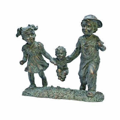 Swing Time: Children Garden Statue