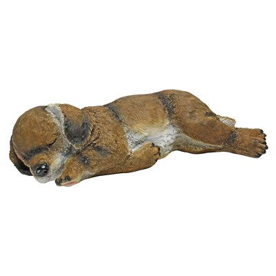 Dozing Doggie Sleeping Puppy Dog Statue