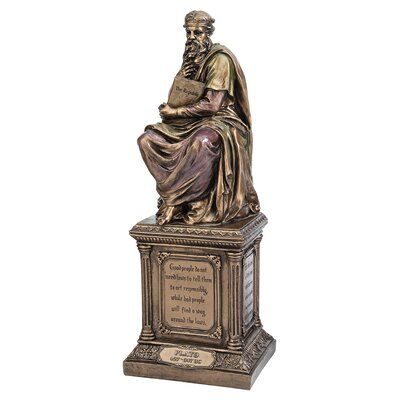 Design Toscano Master of Philosophy Plato Statue