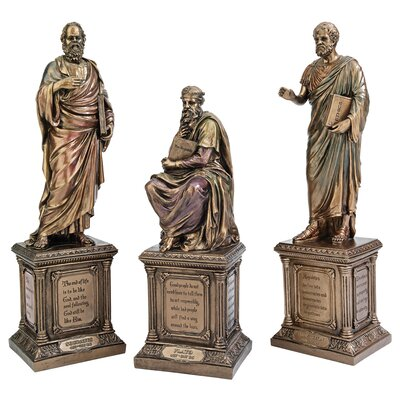 Design Toscano Master of Western Philosophy Statue (Set of 3)