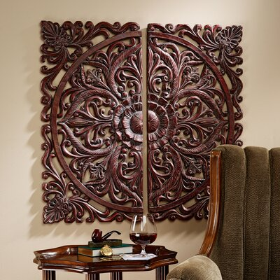 Design Toscano Carved Rosette Architectural Wall Sculpture