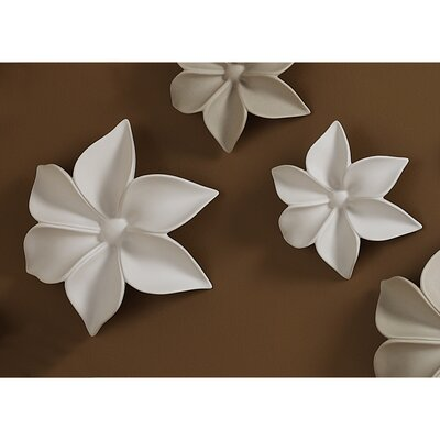 Design Toscano Autumn's Trail Ceramic Wall Flowers (Set of 2)