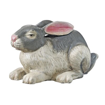 Heirloom Bunny Rabbit Cast Iron Statue
