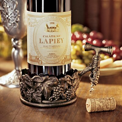 Vineyard's Harvest Wine Bottle Holder with Corkscrew