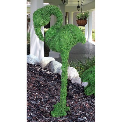 European Style Sculptural Flamingo Topiary Statue