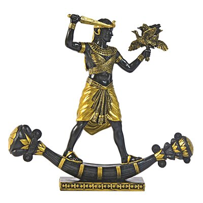 Design Toscano King Tutankhamun Hunting Birds Statue