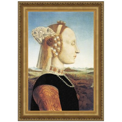 Portrait of Battista Sforza, 1466 Replica Painting Canvas Art