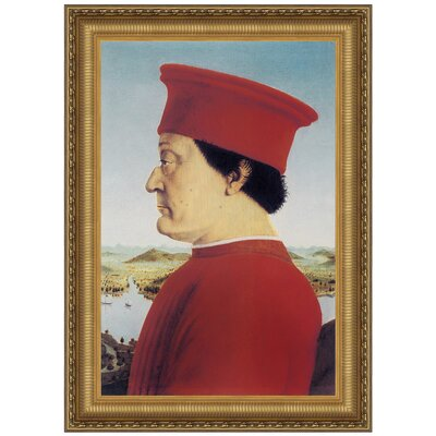 Portrait of Federico Da Montefeitro, 1466 Replica Painting Canvas Art