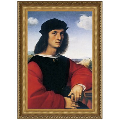 Portrait of Agnolo Doni, 1506 Replica Painting Canvas Art
