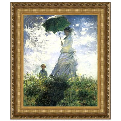 Design Toscano Woman with a Parasol, 1875 Replica Painting Canvas Art