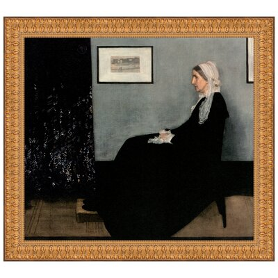 Portrait of the Artist's Mother, 1871 Replica Painting Canvas Art