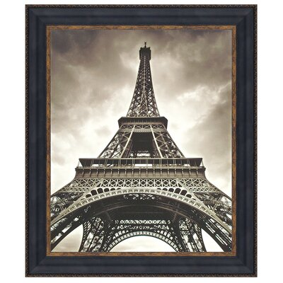 Eiffel Tower Print Under Glass Wall Art