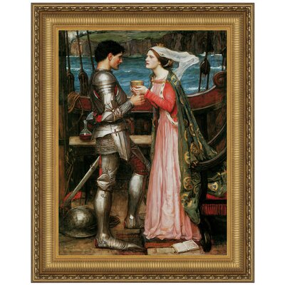 Design Toscano Tristan and Isolde Sharing the Potion, 1916 Replica Painting Canvas Art