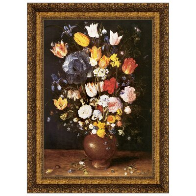 Bouquet of Flowers, 1608 by Jan Brueghel the Elder Framed Painting Print