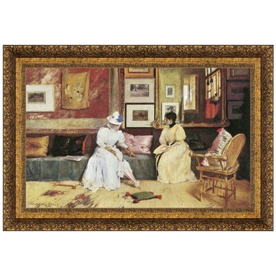 A Friendly Call, 1895 by William Merritt Chase Framed Painting Print