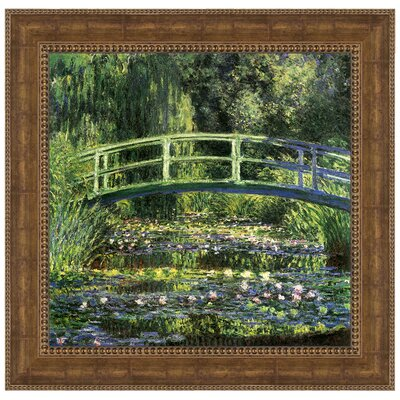 Bridge over a Pond of Water Lilies, 1899 by Claude Monet Framed Painting Print