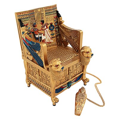 King Tut's Golden Throne Treasure Box