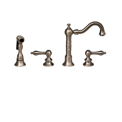 Vintage III Two Handle Widespread Bar Faucet with Swivel Spout, Lever Handles and Side Spray ...