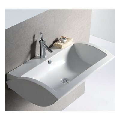 Whitehaus Collection Isabella Rectangular Bathroom Sink with Center Drain