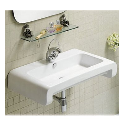 Isabella Rectangular Bathroom Sink with Overflow and Rear Center Drain - WHKN1130