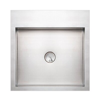 Noah 39 s square above mount stainless steel bathroom sink - Square stainless steel bathroom sink ...