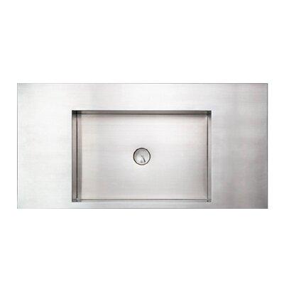 Rectangular stainless steel sink wayfair - Square stainless steel bathroom sink ...