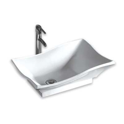Isabella Single Bowl Bathroom Sink - WHKN1078-WH