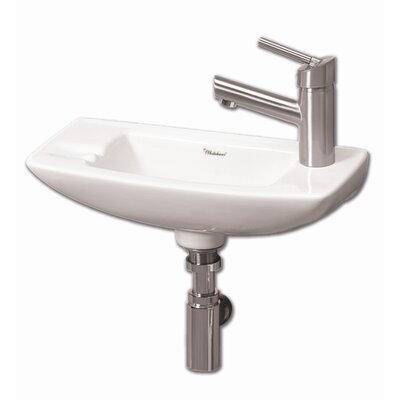 Isabella Single Bowl Bathroom Sink - WH1-103L-WH / WH1-103R-WH