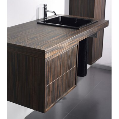 "Whitehaus Collection Aeri 17"" Wood Unit  Vanity Top with Double Drawer"