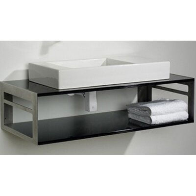 Aeri Bathroom Sink with Shelf - WHTWING