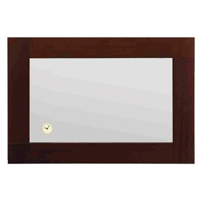 Whitehaus Collection Antonio Miro Rectangular Mirror Horizontally with Wood Frame