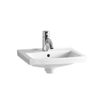 China Wall Mount Small Rectangular Bathroom Sink with Overflow - LU090