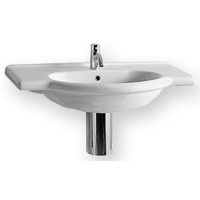 China Wall Mount Bath Vanity Bathroom Sink with Integrated Overflow - TOP