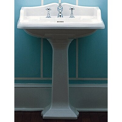 China Large Traditional Pedestal Bathroom Sink with Rectangular Basin - AR824-AR805