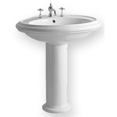 China Round Pedestal Bathroom Sink - BTZ24-BTZ05