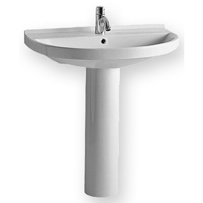 China Pedestal Bathroom Sink with U-shaped Basin - LU014-LU005