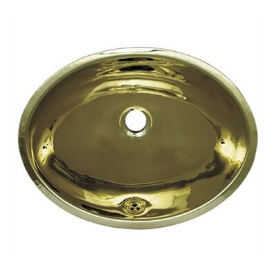 Whitehaus Collection Decorative Undermount Smooth Oval Bathroom Sink