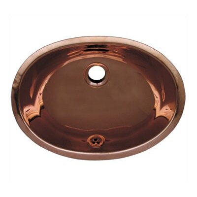Decorative Undermount Smooth Oval Bathroom Sink - WH605CBL