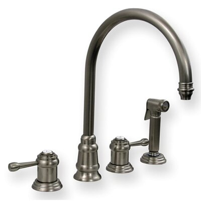 Evolution Two Handle Widespread Kitchen Faucet with Side Spray
