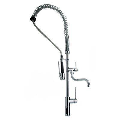Whitehaus Collection Metrohaus Double Handle Single Hole Bar Faucet with Lever Handles