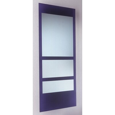 New Generation Rectangular Ecoloom Mirror with Laminated Colored Glass Border