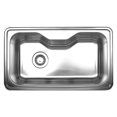 "Whitehaus Collection Noah's 33.5"" x 19.75"" Single Bowl Drop-in Kitchen Sink"